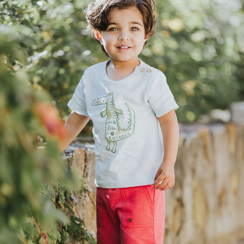 FOX & FINCH Everglades Alligator Tee-LIFESTYLE PHOTO KID