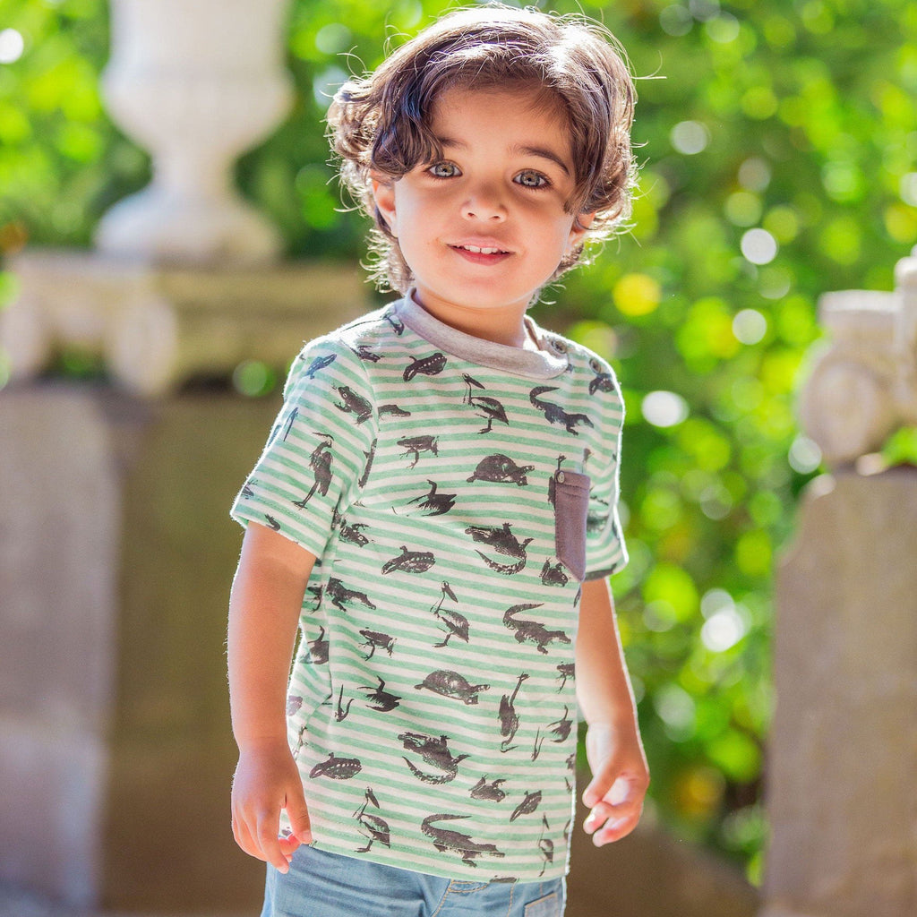 FOX & FINCH Everglades Stripe Tee- STILLLIFE PHOTO KID