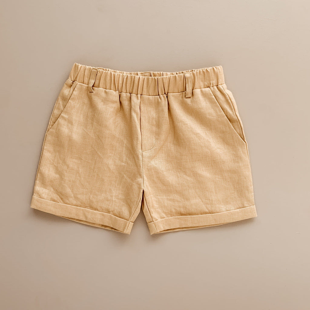 Two Darling Golden Linen Chino Shorts