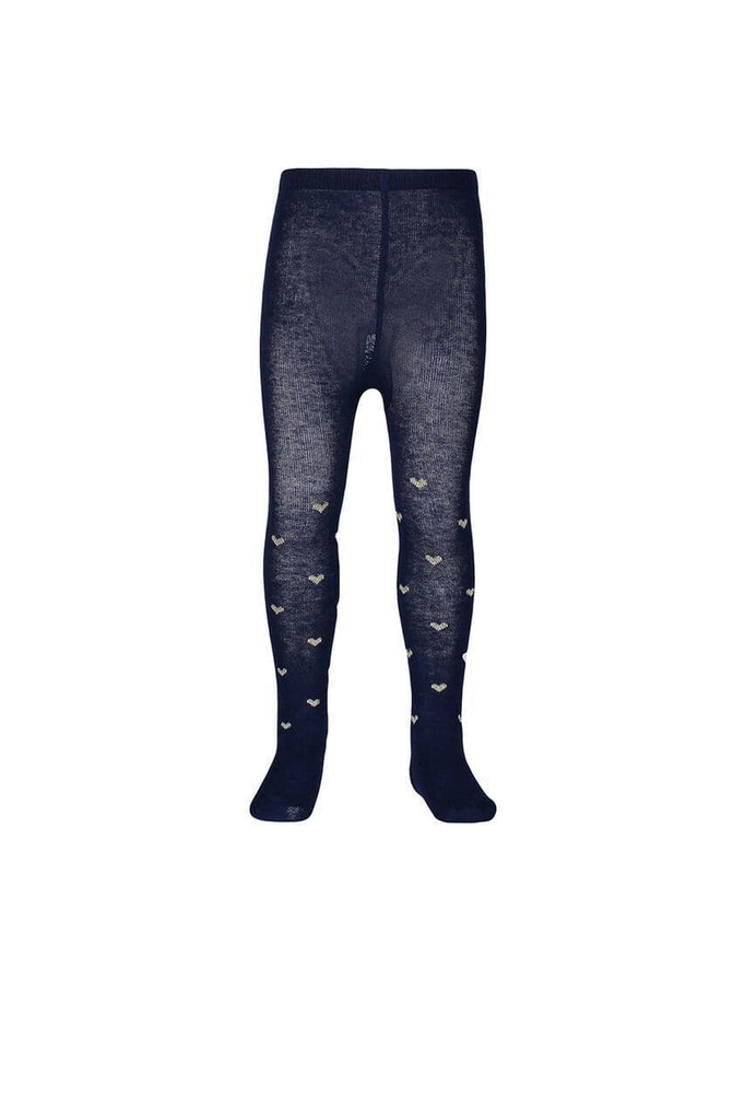 Jacquard Tight - Navy/Silver Marle