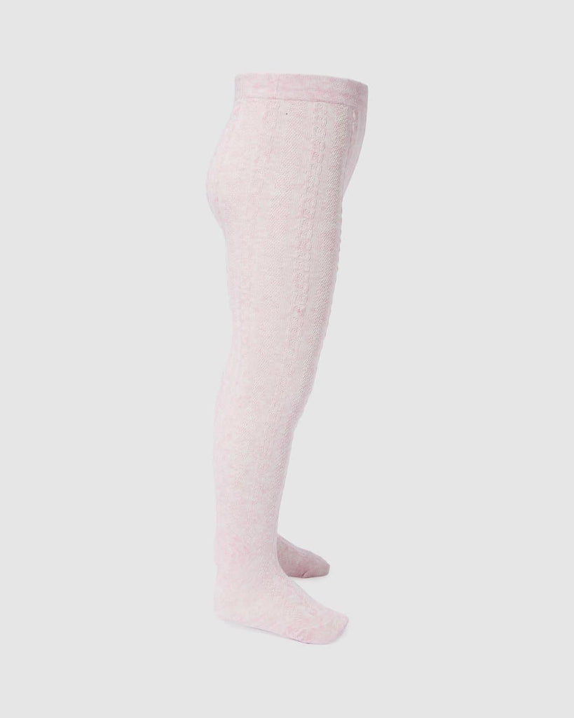 Jacquard Tight - Pale Rose