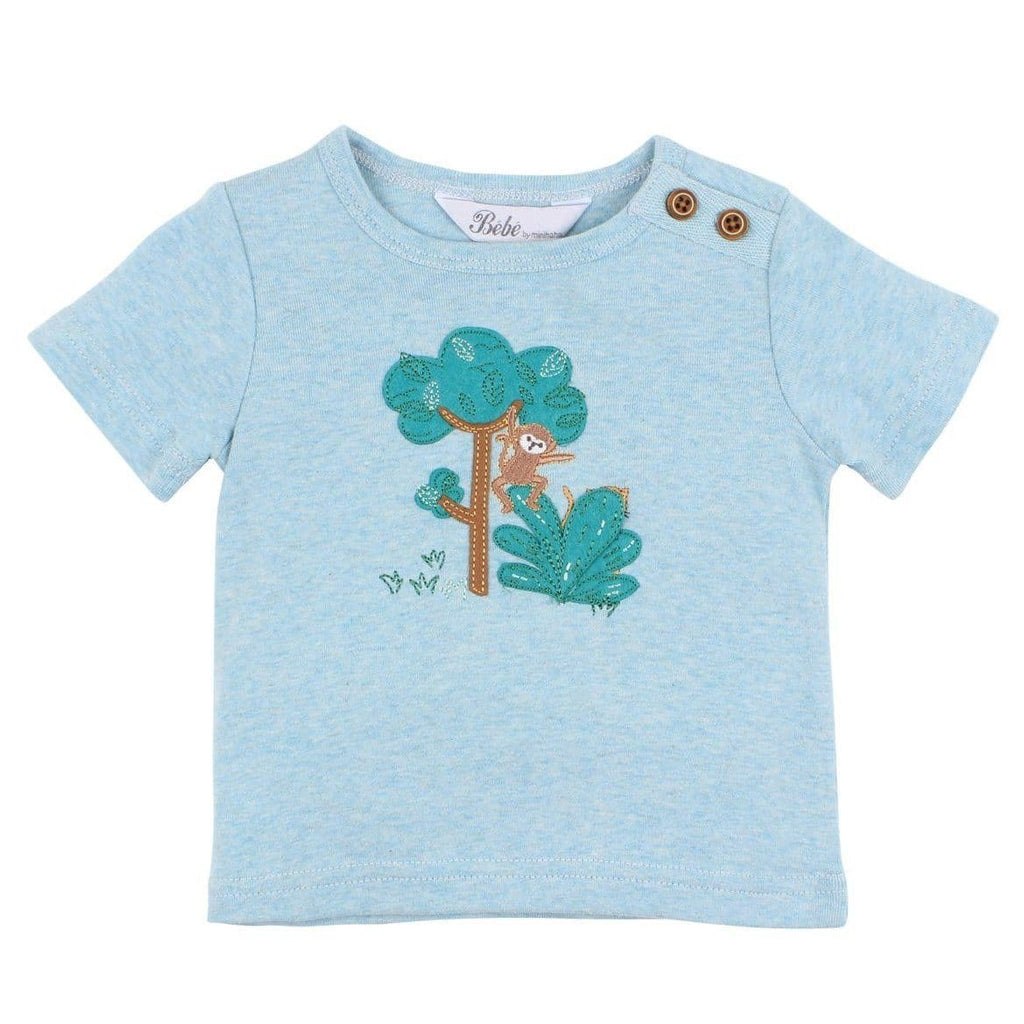 Luke Applique Tee T-Shirts Bebe 0 (6-12 Months)