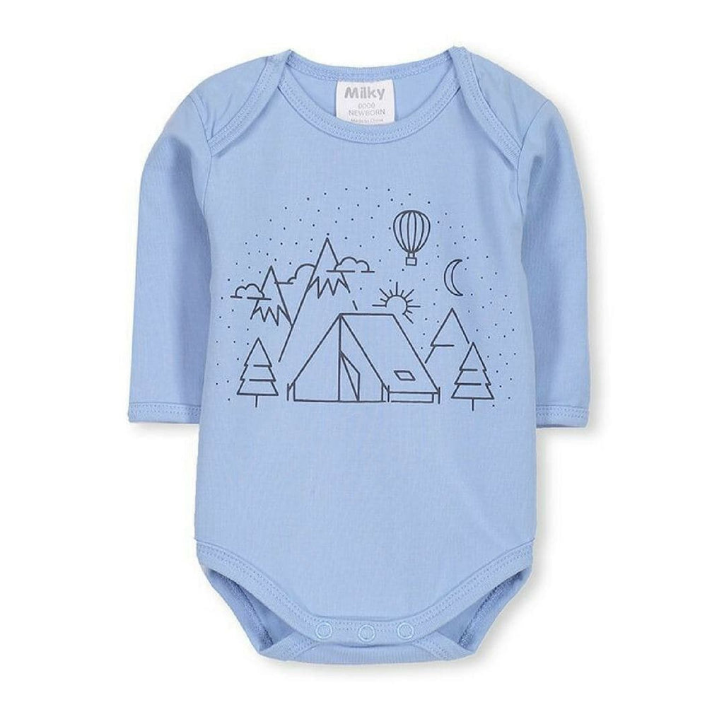 Mountains Bubbysuit (Milky Baby) Bodysuits Milky 0000 (Newborn)
