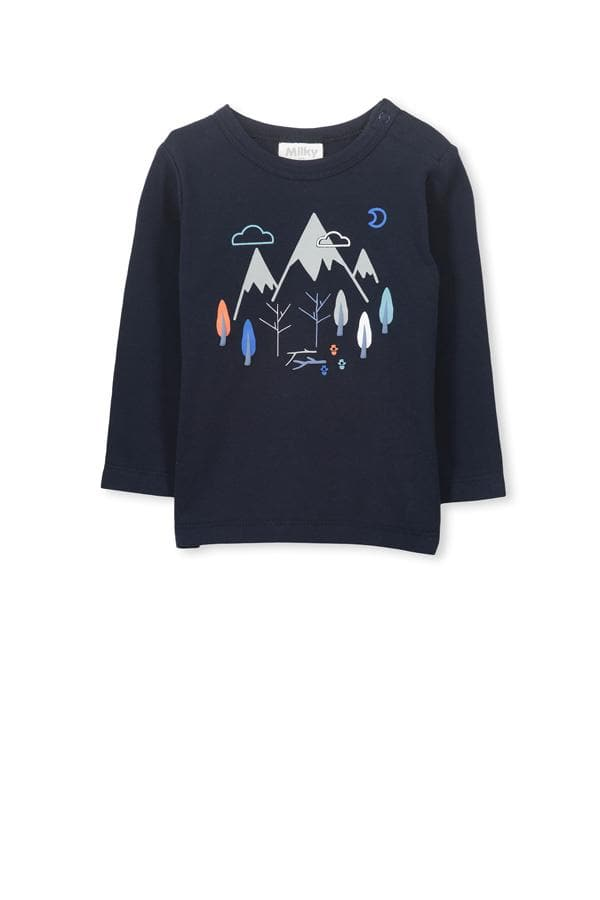 Mountains Tee (Milky Baby) Long Sleeve T-Shirts Milky