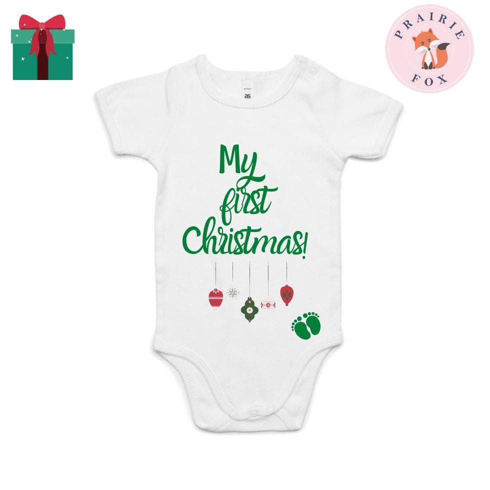 My First Christmas Bodysuit Bodysuits Prairie Fox