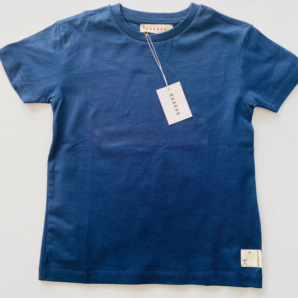Organic Cotton Classic Fit Clyde Tee - Navy T-Shirts RAARAA Kids