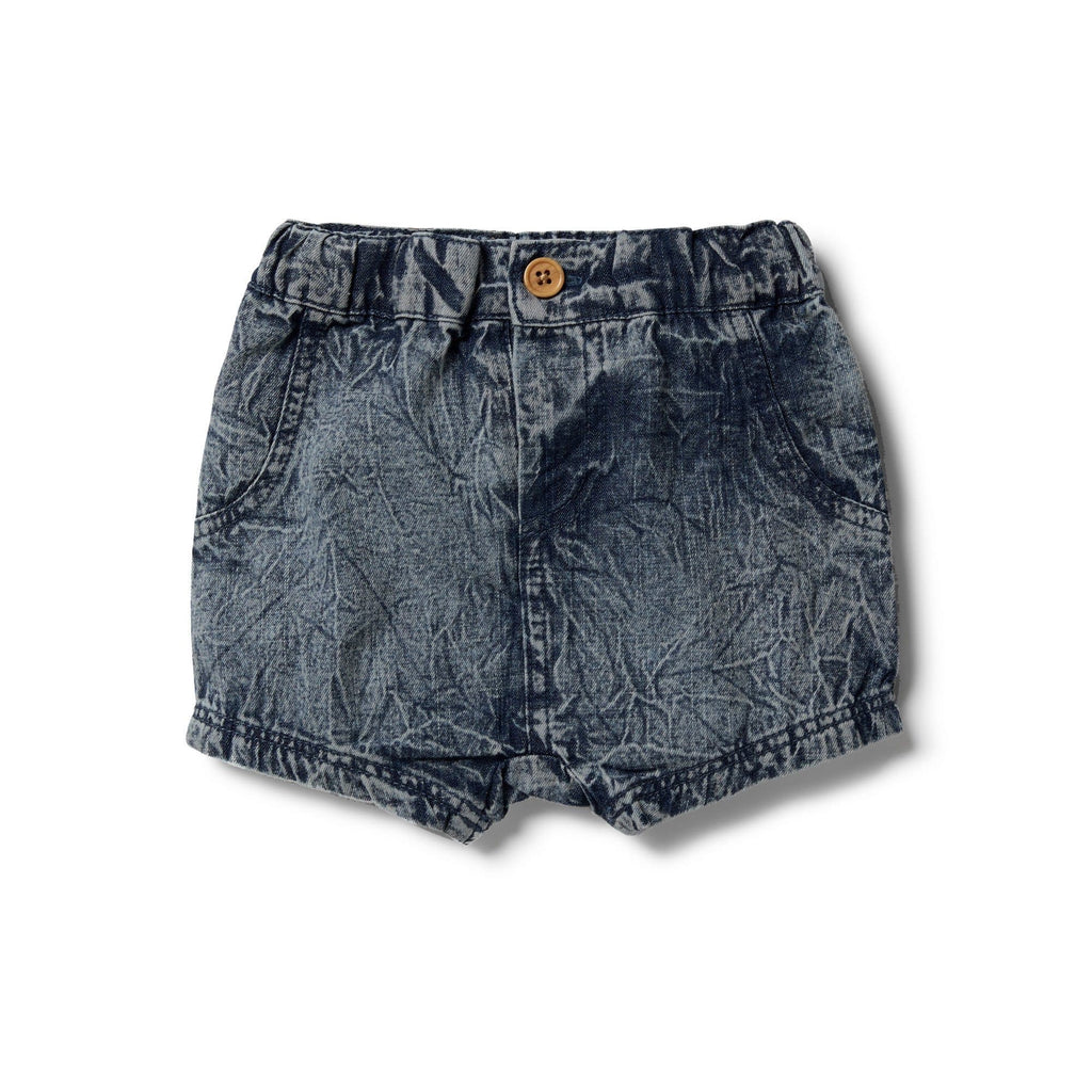 Wilson and Frenchy Sand Washed Denim Slouch Short