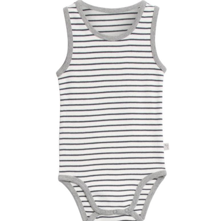 Wheat Sleeveless Body - Navy Stripe