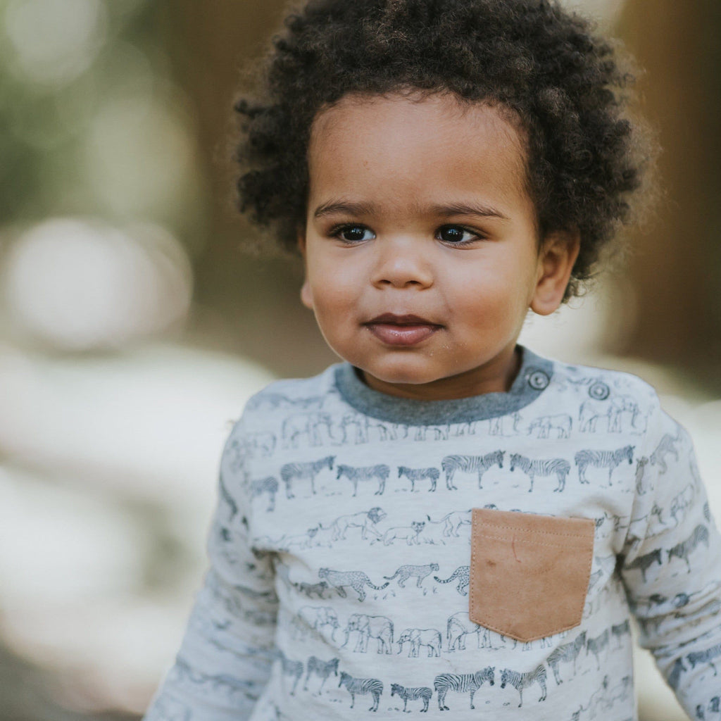 FOX & FINCH Spot Pocket Tee-LIFESTYLE PHOTO BABY