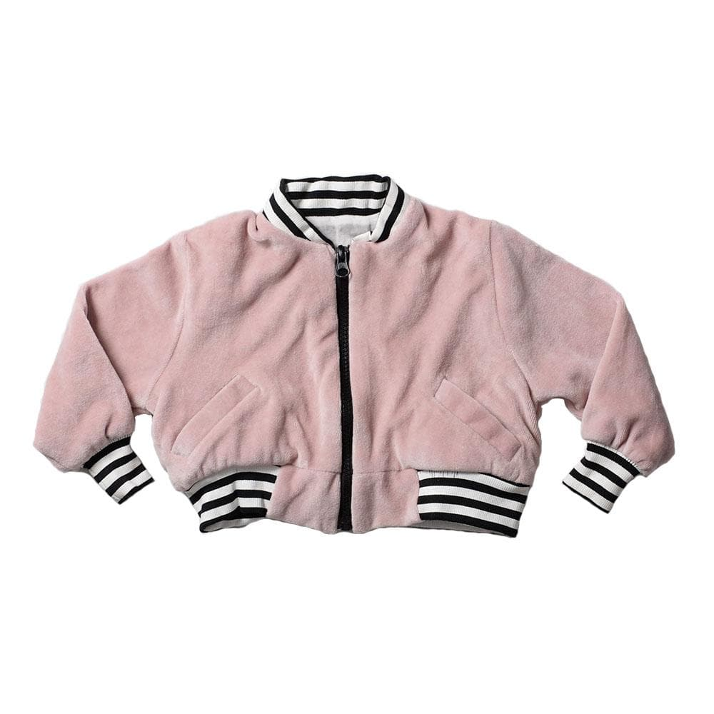 Anarkid Velour Bomber Jacket - Crystal Pink