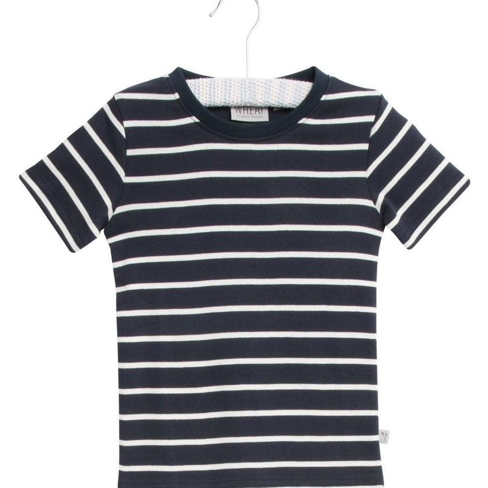 Wheat Wagner Short Sleeve T-Shirt - Navy