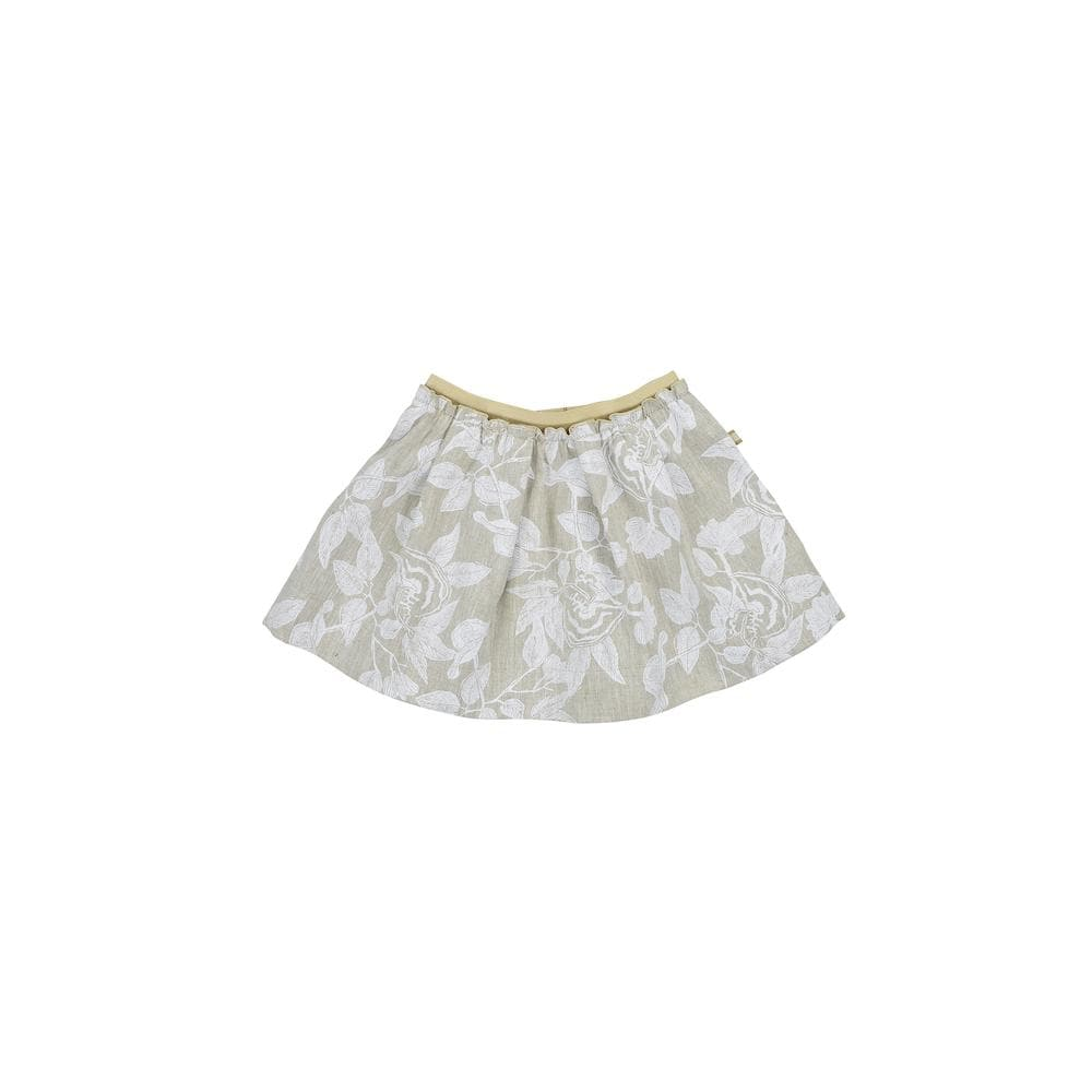 White Botanic Print Molly Skirt Skirts RAARAA Kids