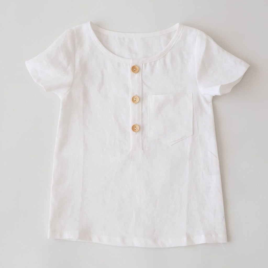 Two Darling White Linen Tee
