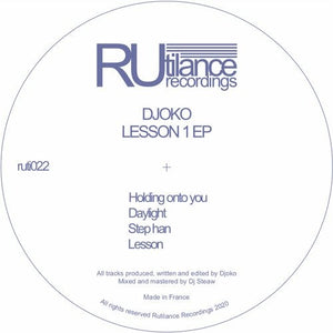 Djoko - Lesson 1 EP  [delving into a wide range of house cuts.  **brilliant! **  Release : 15.11.2020