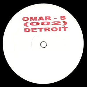 Omar S  - 002 **    [Reissue, White Label, Stamped]   Detroit House .. Classic !!