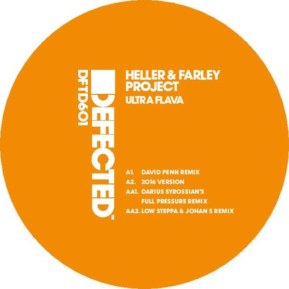 Heller & Farley Project - Ultra Flava (David Penn / Darius Syrossian / Low Steppa & Johan S Remixes)  Classic !!