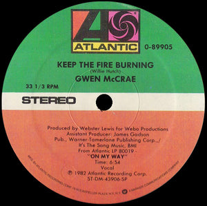 Gwen McCrae ‎– Keep The Fire Burning/ Funky Sensation (TOP TOP TUNE!!  classic bomb !!