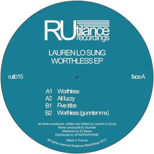 Lauren Lo Sung - Worthless Ep  [House Deep, Tech **