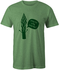 """Urine for a big surprise!"" Asparagus T-shirt"