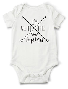 I'm With the Hipsters Onesie