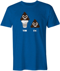 "Wholesale Poop emoji ""Yum. Ew."" T-shirt"