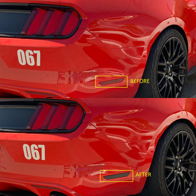 Ford Mustang Rear Bumper Side Reflector Overlay