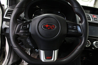 Subaru Sti Steering Wheel Bottom Emblem Overlay