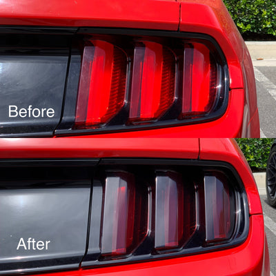 Ford Mustang Tail Light Pre-Cut Overlay