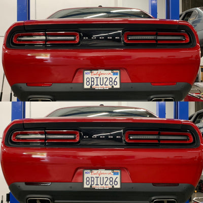 Dodge Challenger Rear Bumper Reflector Overlays
