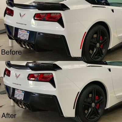 Chevrolet Corvette C7 Rear Bumper Side-Reflector Overlay