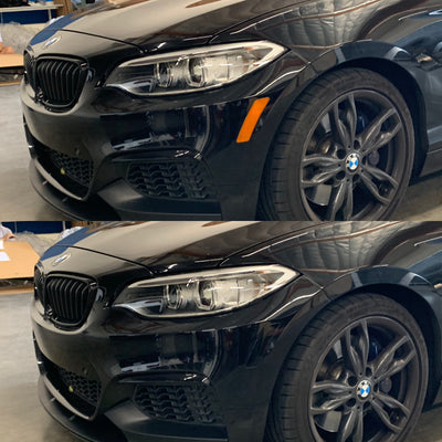BMW 2-Series Coupe Front Bumper Reflector Overlay