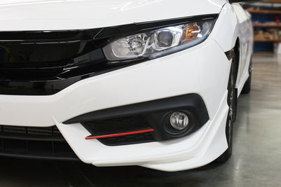 2016 - 2018 Honda Civic Front Bumper Fog Light Pin Stripe