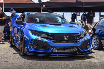 2017+ Honda Civic Type R Headlight Overlay - RawVinylWorks