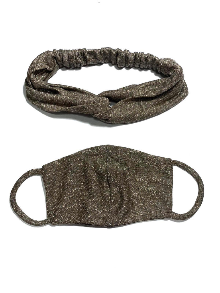 REUSABLE HEADBAND AND FACE MASK- GREY (4705880047700)