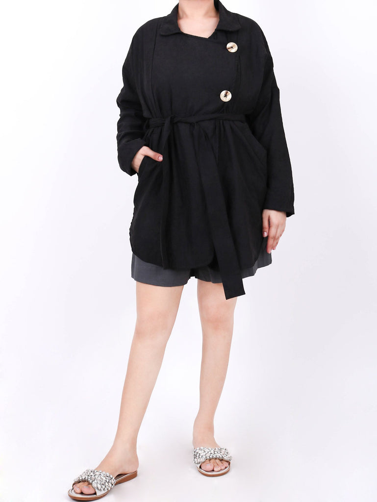 ASYMMETRIC BUTTON-FRONT COVER UP (4724749008980)