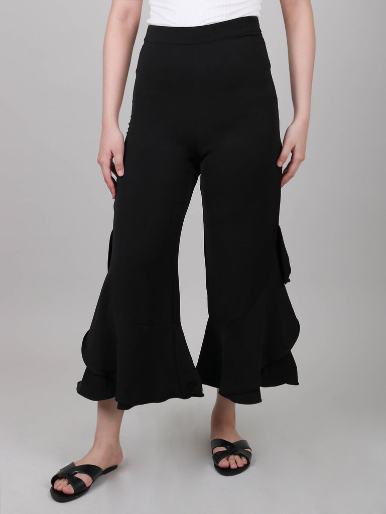 CROPPED PANTS WITH RUFFLES (4683895668820)