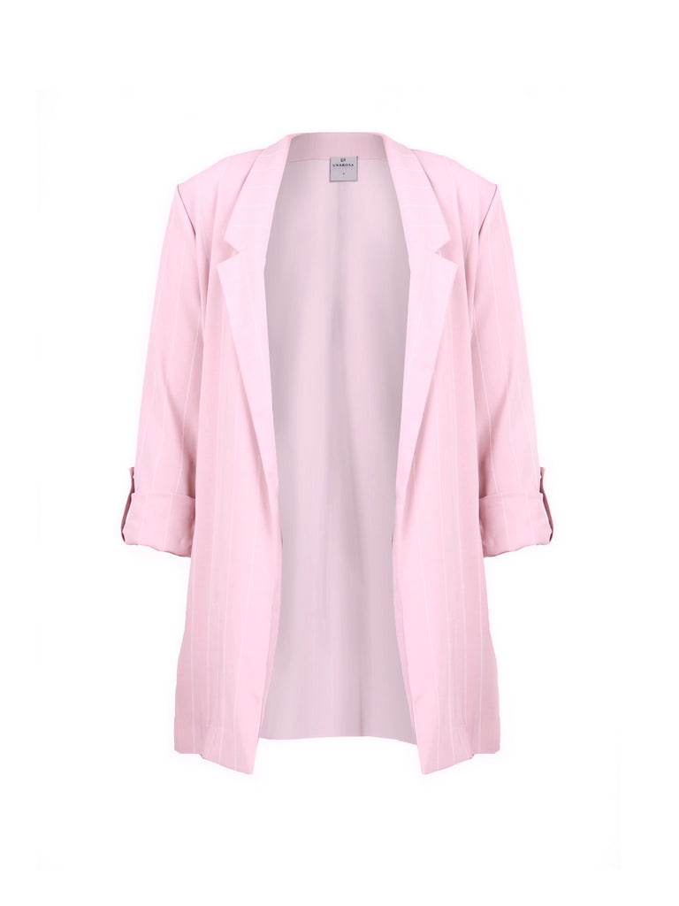 NOTCHED COLLAR BLAZER WITH LONG SLEEVES (4723667140692)