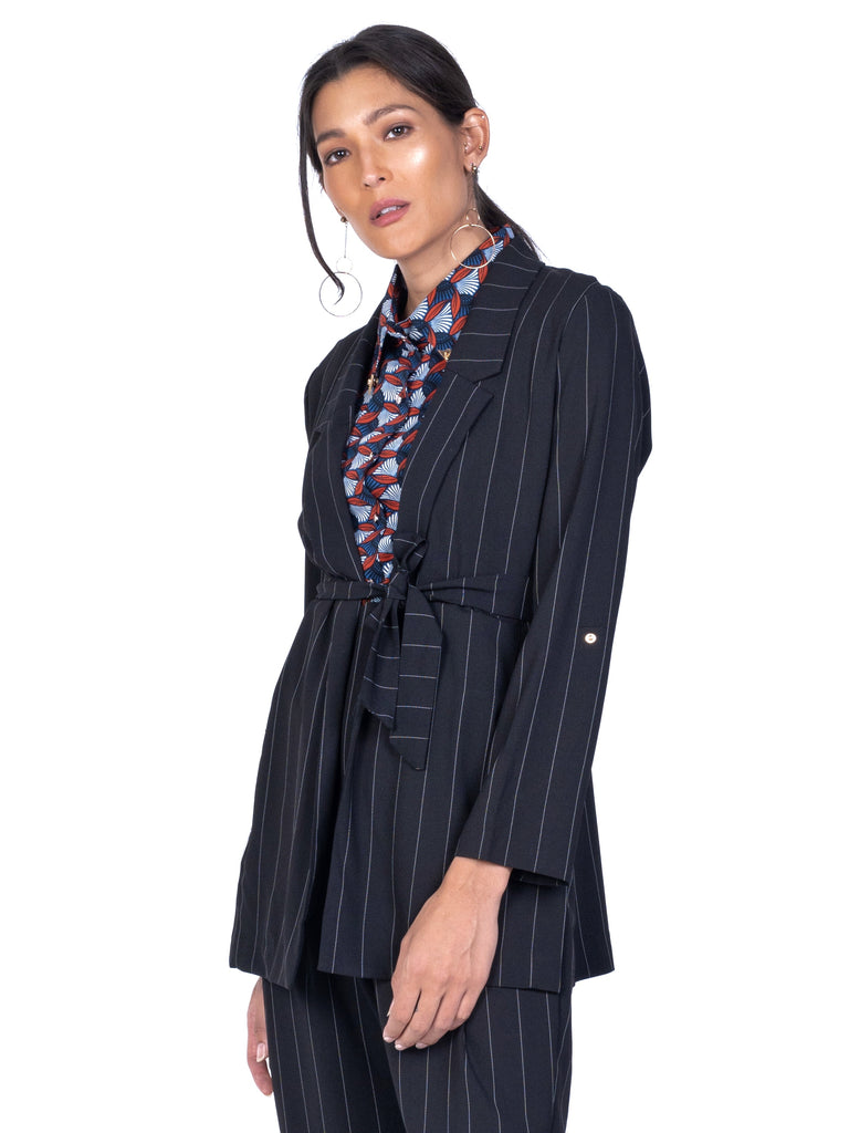 NOTCHED COLLAR BLAZER WITH LONG SLEEVES (4684083626068)
