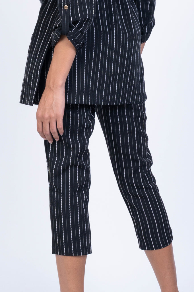 TAPERED TROUSERS WITH ELASTIC WAISTBAND (4682490249300)