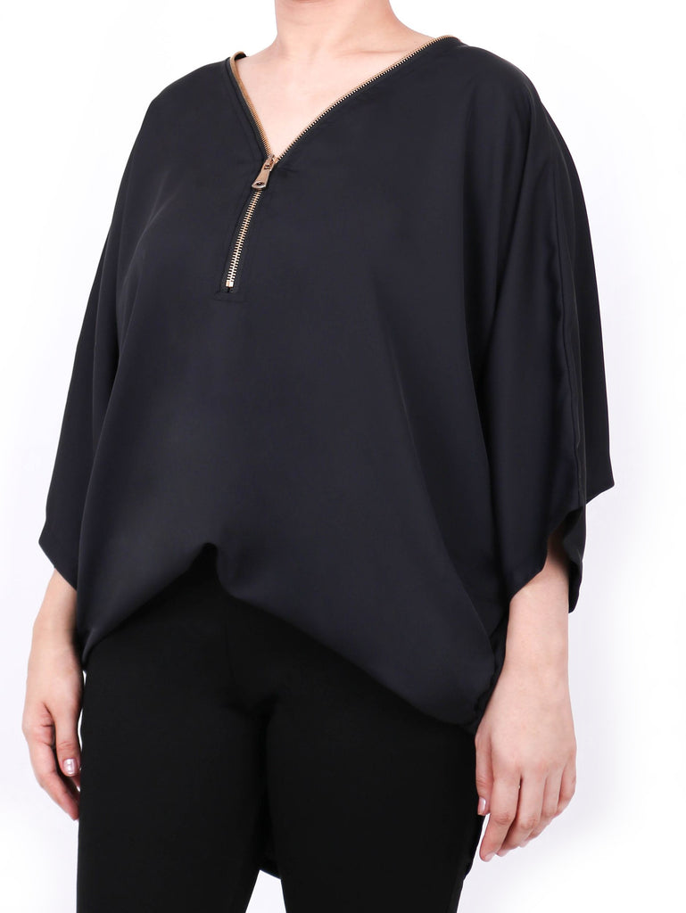 SATIN DOLMAN TOP (4684255035476)