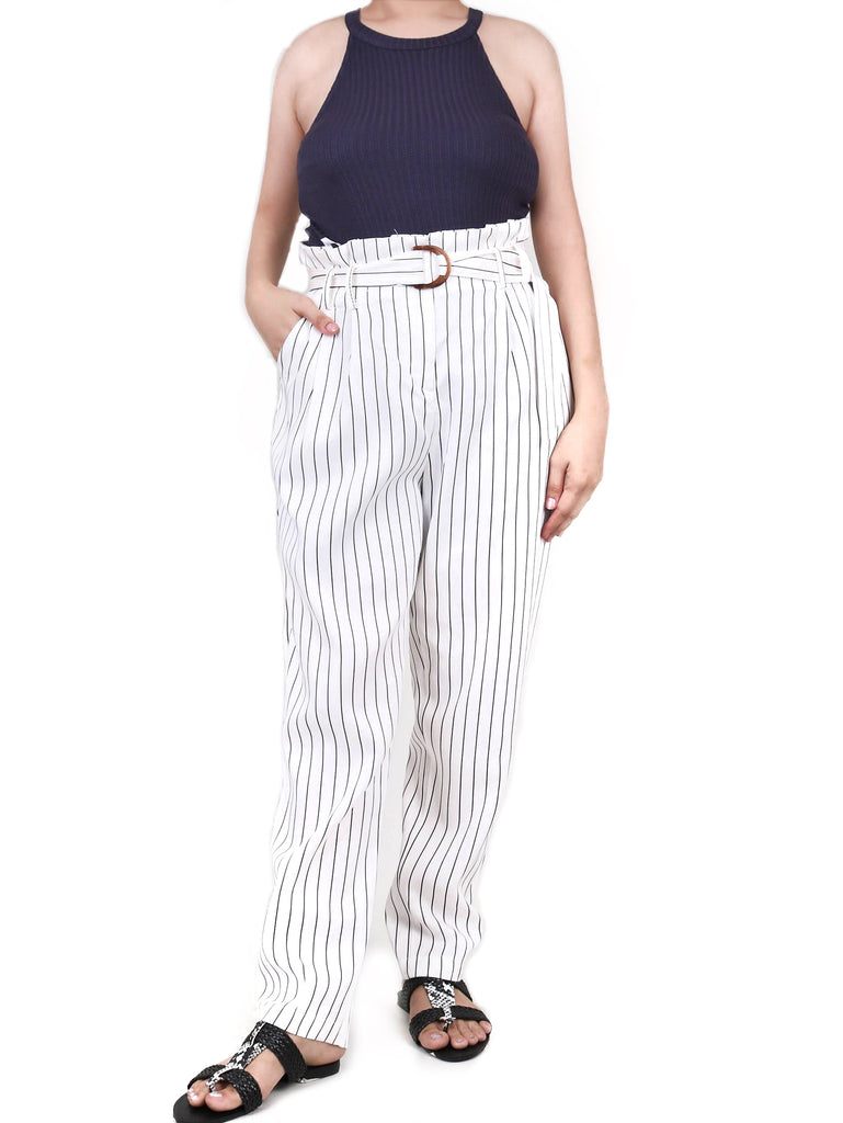 PAPERBAG WAIST TROUSERS (4684363858004)