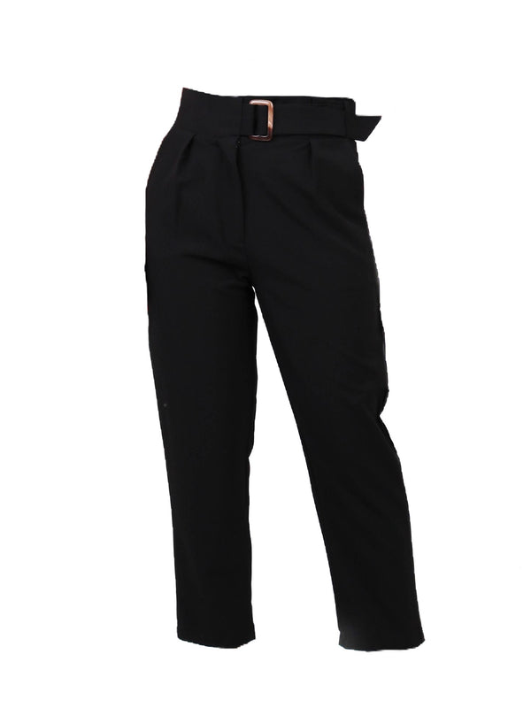 TAILORED TROUSERS WITH RESIN BUCKLE