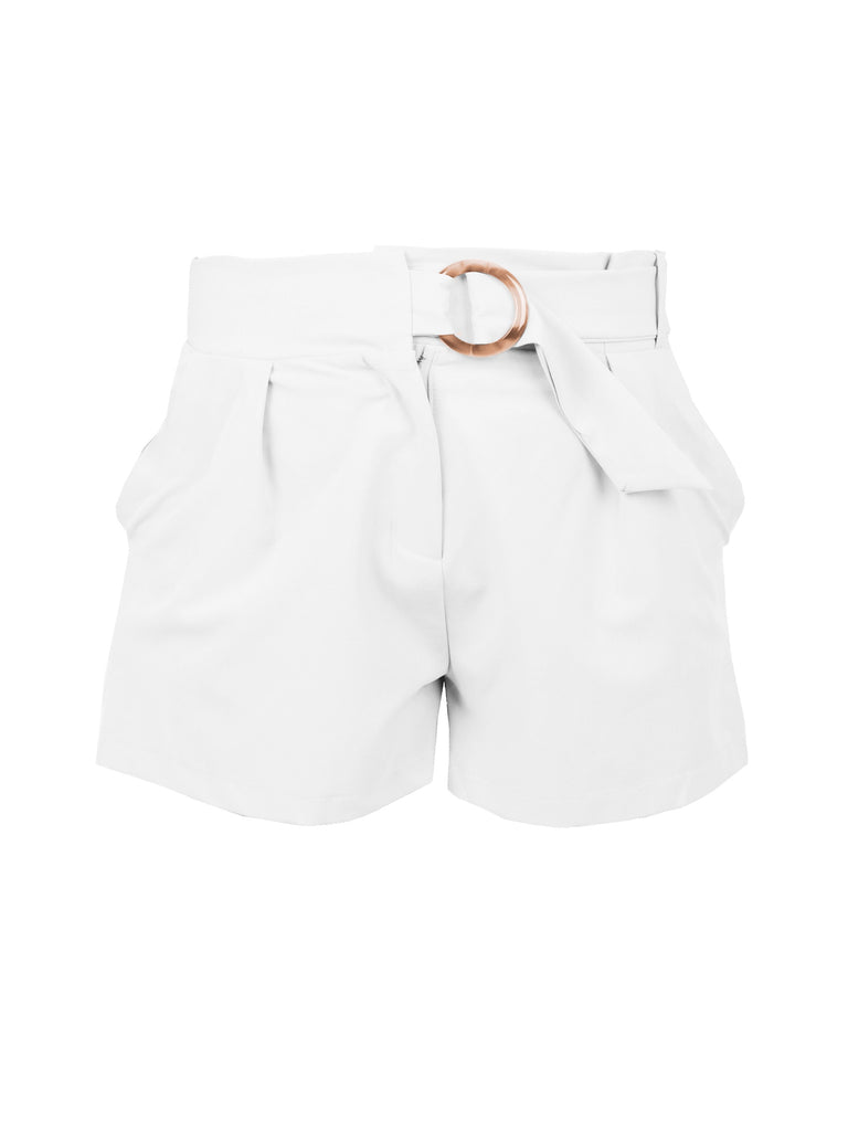 TAILORED SHORTS WITH RESIN BUCKLE (4723752894548)