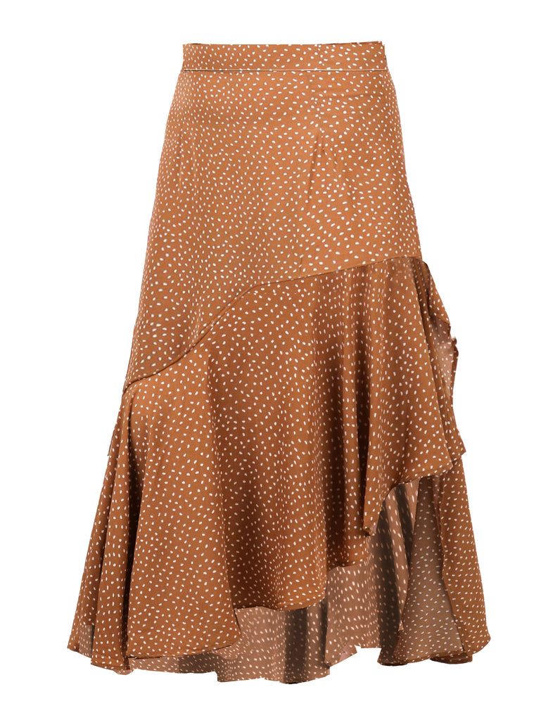 LAYERED RUFFLES MIDI SKIRT (4684393906260)