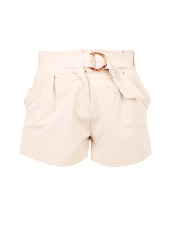 TAILORED SHORTS WITH RESIN BUCKLE