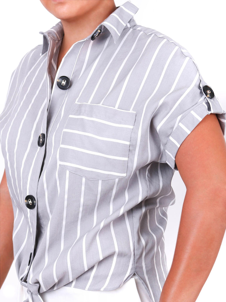 STRIPED TIE-FRONT SHIRT (4722565840980)