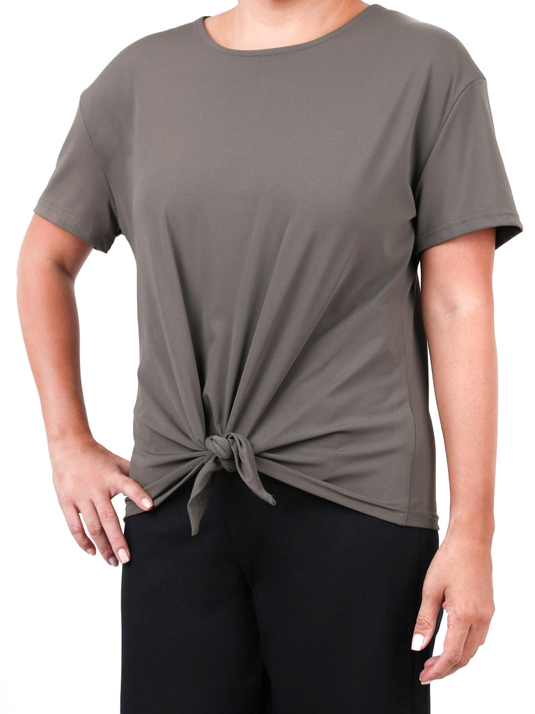 TIE-FRONT COTTON SPANDEX TEE (4724656767060)