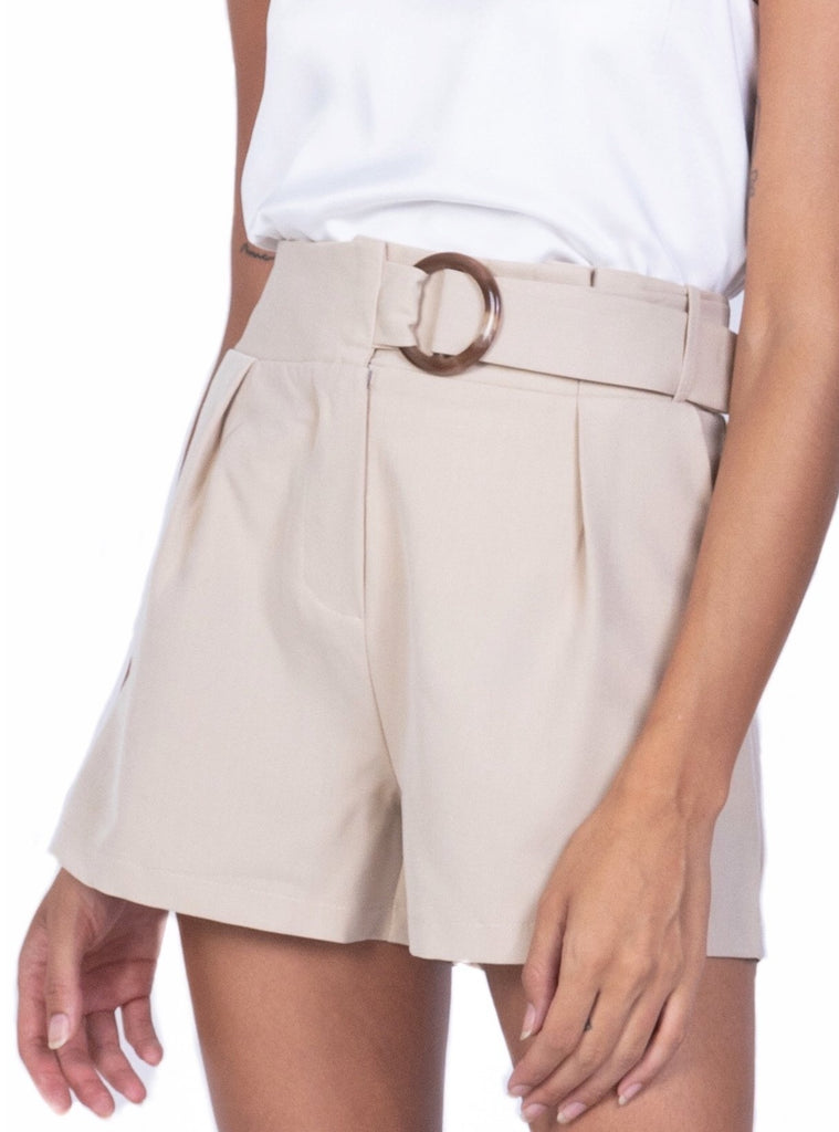 TAILORED SHORTS WITH RESIN BUCKLE (4684418515028)