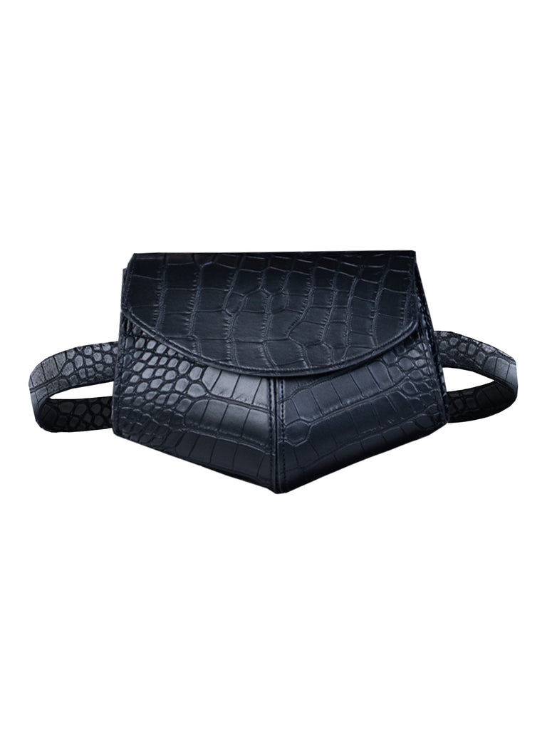 THE UN-LEATHER BELT BAG - BLACK (4706377269332)