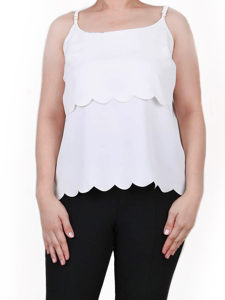 LAYERED SATIN SCALLOPED TOP (4722610503764)